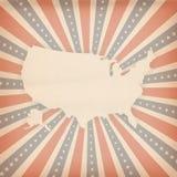 Amerikaanse retro achtergrond Royalty-vrije Stock Fotografie
