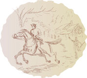 Amerikaanse revolutionaire ambtenaar royalty-vrije illustratie