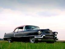 Amerikaanse Schrijver uit de klassieke oudheid - de Zwarte Auto van jaren '50 Royalty-vrije Stock Afbeelding