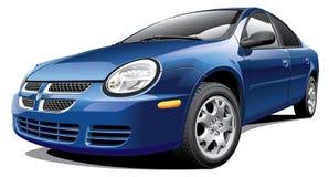 Amerikaanse sedan met vier deuren vector illustratie