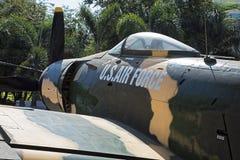 Amerikaanse A-1 Skyraider op vertoning in het Museum van Oorlogsresten binnen Stock Foto