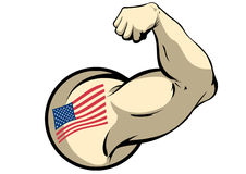 Amerikaanse Spier vector illustratie