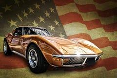 Amerikaanse spierauto Stock Fotografie