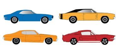 Amerikaanse spierauto's stock illustratie