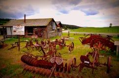 Amerikaanse spookstad Stock Foto's