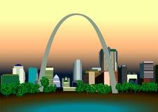 Amerikaanse steden Stock Afbeeldingen