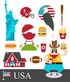 Amerikaanse stereotypen Stock Foto's