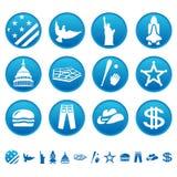 Amerikaanse symbolen Stock Fotografie