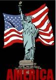 Amerikaanse symbolen Stock Afbeeldingen