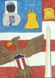 Amerikaanse symbolen van vrijheid Royalty-vrije Stock Foto