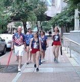 Amerikaanse trots: een vlag voorbij ideologieën royalty-vrije stock foto