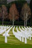 Amerikaanse Tweede Wereldoorlogbegraafplaats Royalty-vrije Stock Foto's