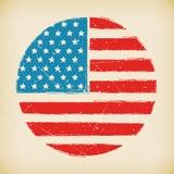 Amerikaanse van de grungevlag affiche als achtergrond Royalty-vrije Stock Foto