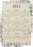 Amerikaanse Vector grungy kalender 2015 Stock Foto