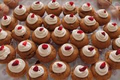 Amerikaanse veenbes Bedekte Muffins Royalty-vrije Stock Afbeeldingen