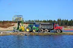 Amerikaanse veenbeslandbouwbedrijf Stock Afbeeldingen