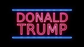 Amerikaanse Verkiezing Donald Trump Sign Neon Sign in het Retro Stijl Aanzetten vector illustratie