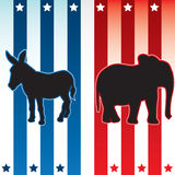 Amerikaanse verkiezings vectorillustratie Stock Afbeelding