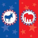 Amerikaanse verkiezings vectorillustratie Royalty-vrije Stock Foto's