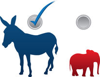 Amerikaanse verkiezings vectorillustratie Stock Foto