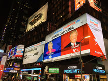 Amerikaanse verkiezingsnacht Royalty-vrije Stock Foto