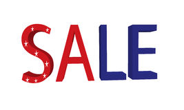 Amerikaanse verkoop Royalty-vrije Stock Foto