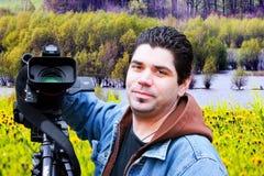 Amerikaanse videographer Stock Foto's
