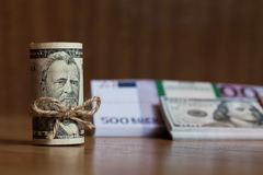 Amerikaanse Vijftig Dollarsrekeningen Royalty-vrije Stock Foto's