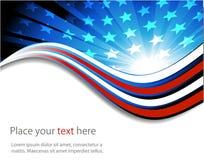 Amerikaanse vlag, abstracte achtergrond van stock illustratie