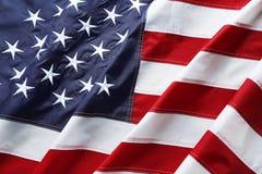 Amerikaanse vlag als achtergrond, hoogste mening Nationaal symbool royalty-vrije stock foto