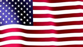 Amerikaanse Vlag die in de wind golft royalty-vrije illustratie