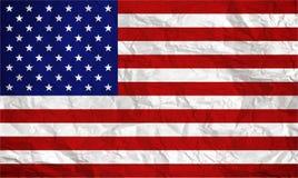 Amerikaanse vlag die met grungetextuur wordt bedekt - Beeld stock foto