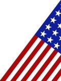 Amerikaanse Vlag die op een witte achtergrond wordt geïsoleerdr Stock Foto's