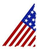 Amerikaanse Vlag die op een witte achtergrond wordt geïsoleerdr Stock Afbeeldingen
