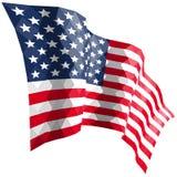Amerikaanse vlag in driehoekige stijl Royalty-vrije Stock Afbeelding