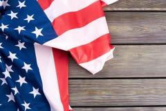 Amerikaanse vlag en tekstruimte Royalty-vrije Stock Afbeeldingen