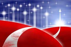 Amerikaanse vlag gestileerde achtergrond Stock Foto