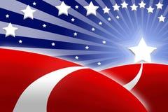 Amerikaanse vlag gestileerde achtergrond Stock Foto's