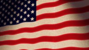 Amerikaanse Vlag Grunge (HD-Lijn) stock video