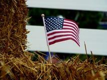 Amerikaanse Vlag het Rood, Wit en Blauw stock foto