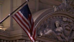 Amerikaanse Vlag Las Vegas stock footage