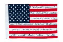 Amerikaanse Vlag met de Belofte van Trouw Royalty-vrije Stock Afbeelding