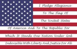 Amerikaanse Vlag met de Belofte van Trouw Royalty-vrije Stock Afbeeldingen