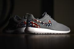 Amerikaanse Vlag Nike Roshes royalty-vrije stock afbeelding