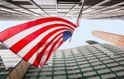Amerikaanse vlag op de straten van de Stad van New York Royalty-vrije Stock Foto