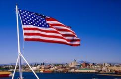 Amerikaanse Vlag op een Carrier royalty-vrije stock fotografie