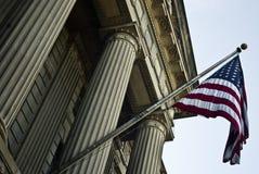 Amerikaanse vlag op een gebouw in Washington Royalty-vrije Stock Fotografie