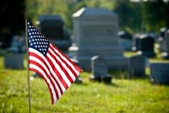 Amerikaanse vlag op herdenkingsdag royalty-vrije stock afbeelding