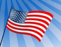 Amerikaanse vlag op pool Stock Afbeeldingen