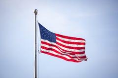 Amerikaanse vlag op wind Royalty-vrije Stock Foto